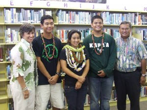 From left to right: Bridget Arume, Dustin Valdez, Angela Mones, Mark Bonilla, Al Garces