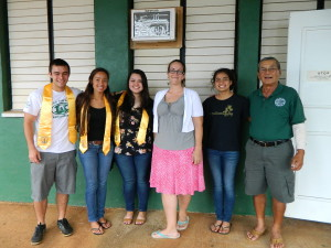 NHS Advisor Ms Fawn Perry with NHS Officers with Foundation President Art Fujita